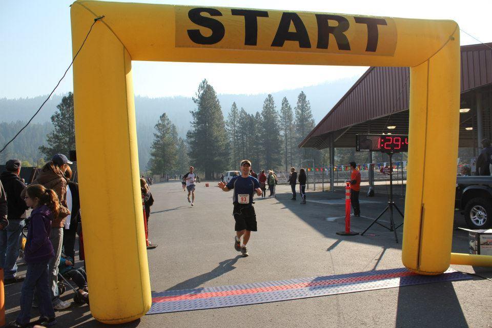Finishing the Leavenworth Marathon 2012