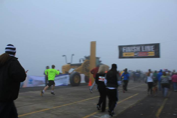 Finishing the Race (in bright yellow)
