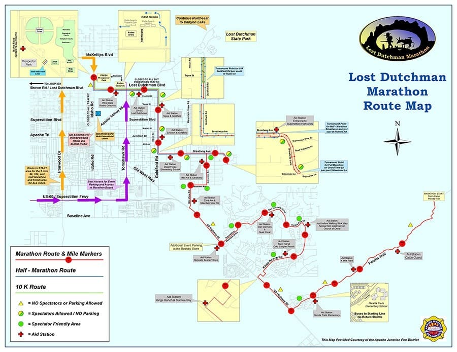 Lost Duchman Marathon Arizona Map