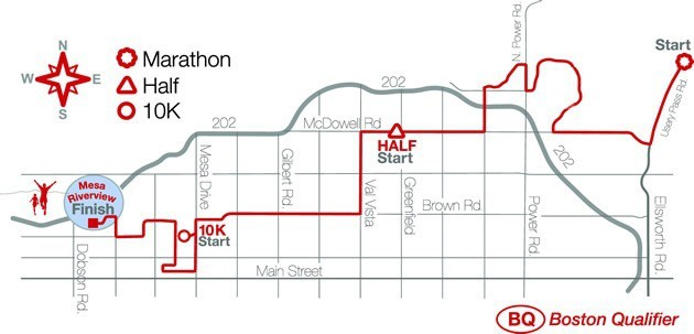 Phoenix Half Marathon Course Map