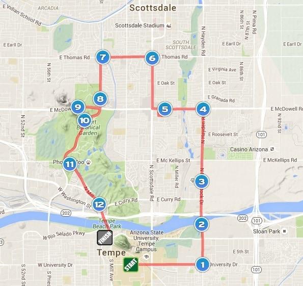 Rock N Roll Arizona Half Marathon Course Map