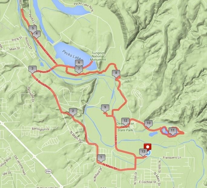 Brian Mickelsen Half Marathon Course Map