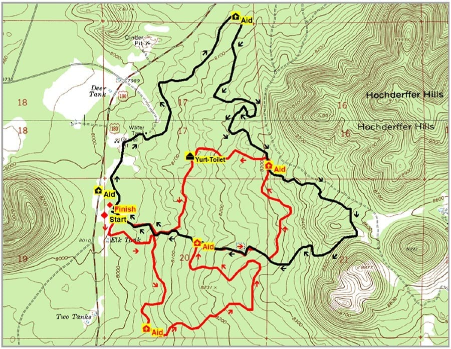 Flagstaff Marathon Course Map