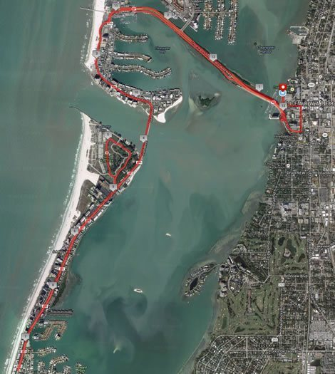 Clearwater Classic Half Marathon Course Map
