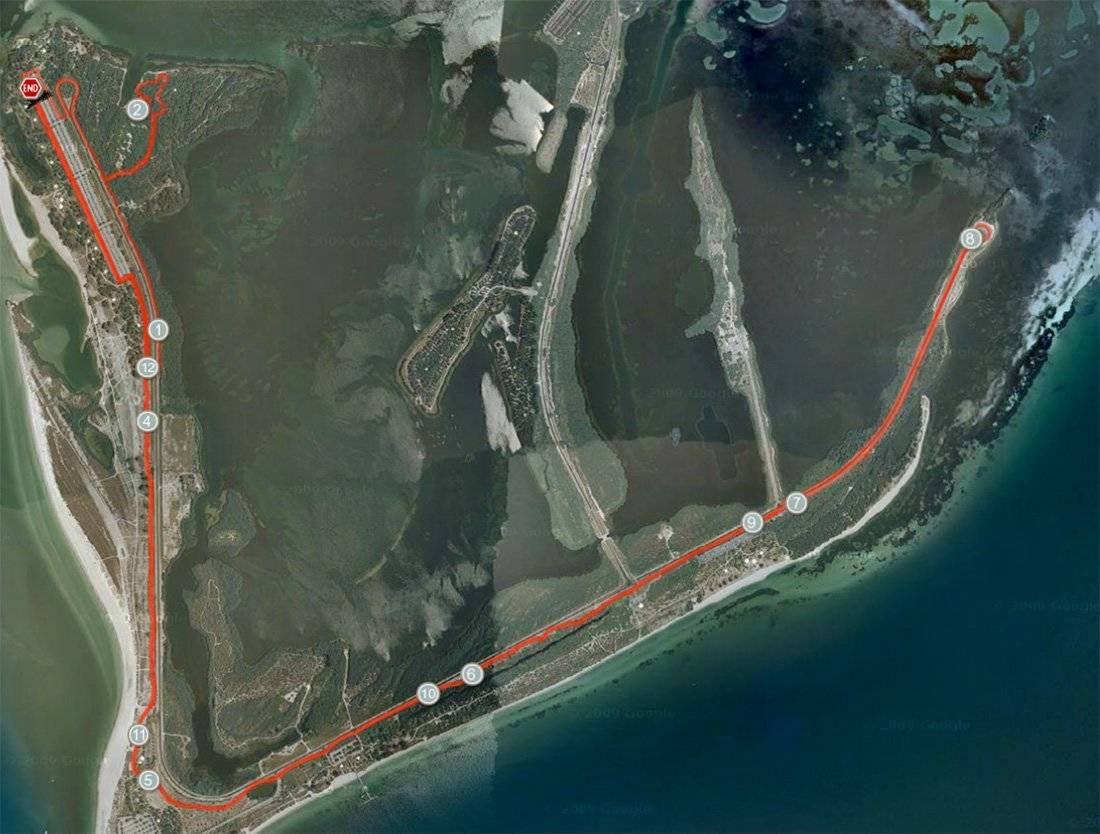Florida Beach Half Marathon Course Map