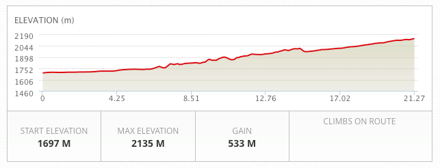 Dino Half Marathon Elevation Profile