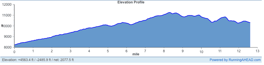 La Sportiva Vail Half Marathon Elevation Profile