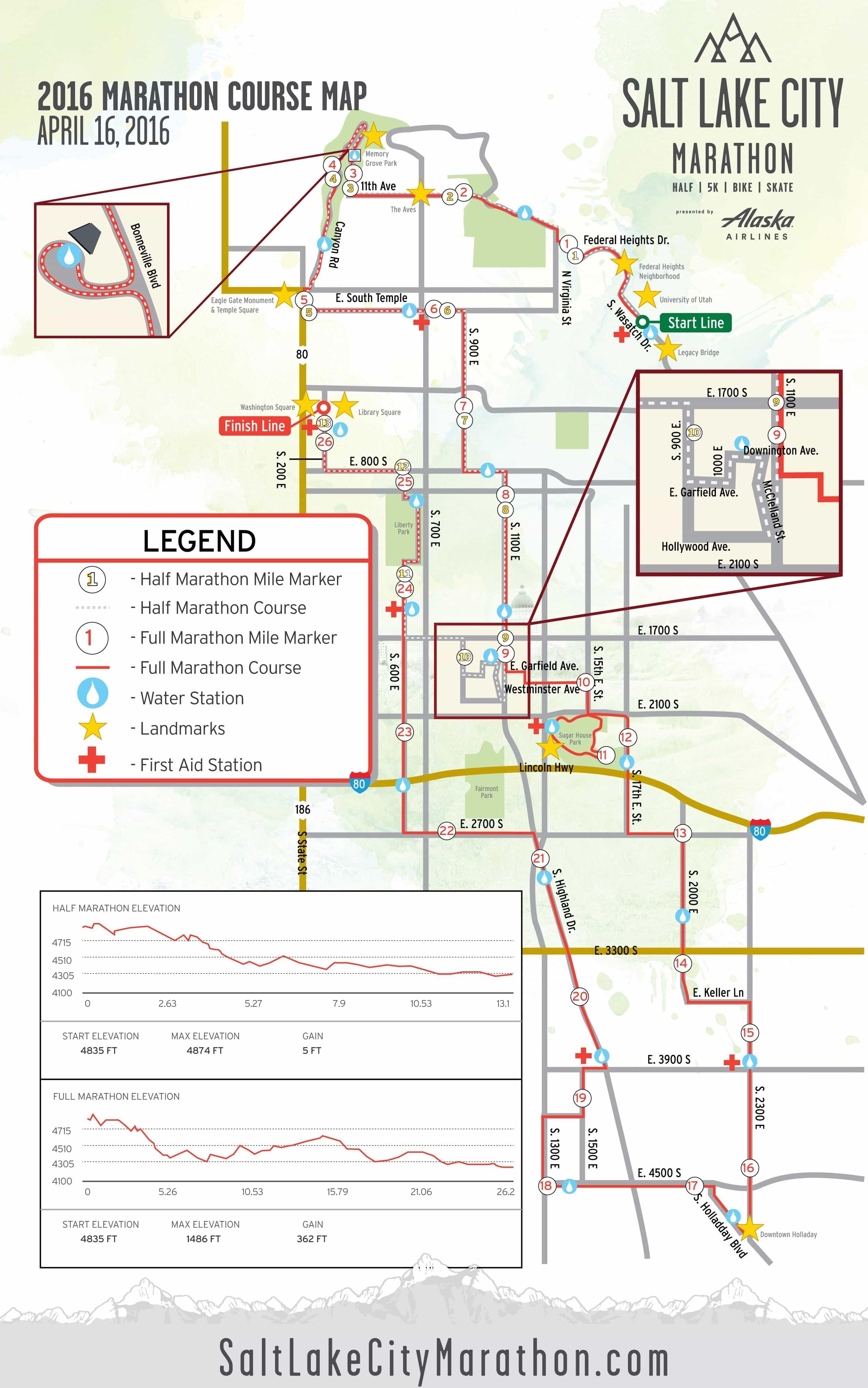 Salt Lake City Marathon Map