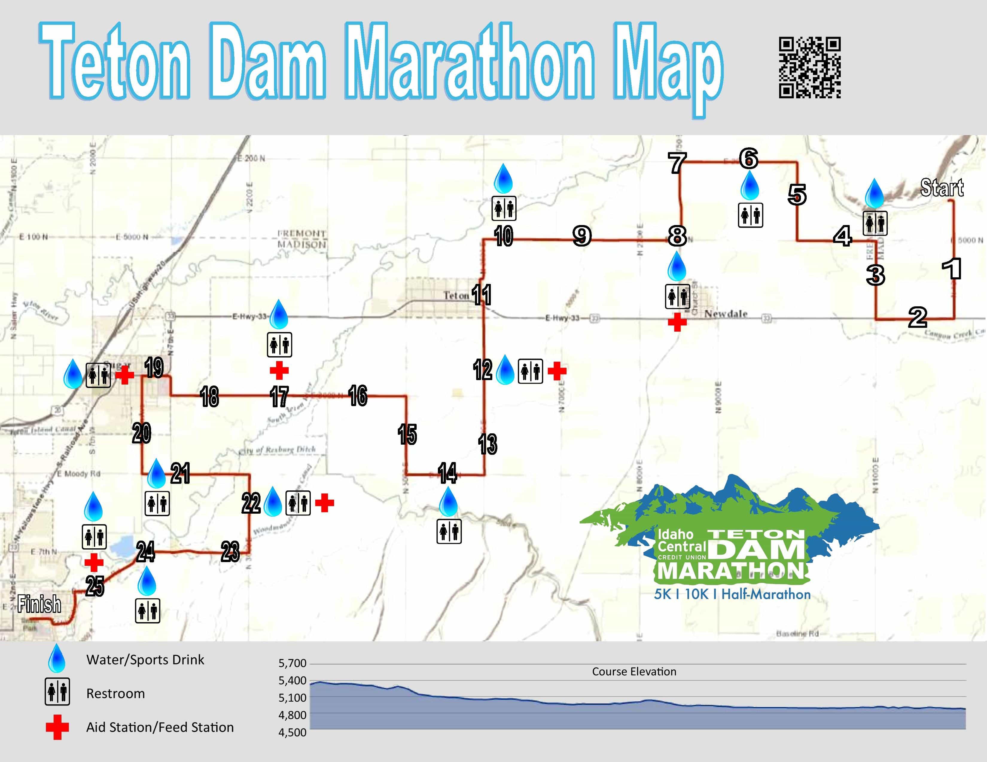 Teton Marathon Map