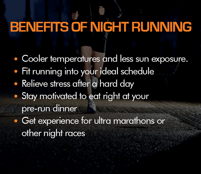 benefits of running at night