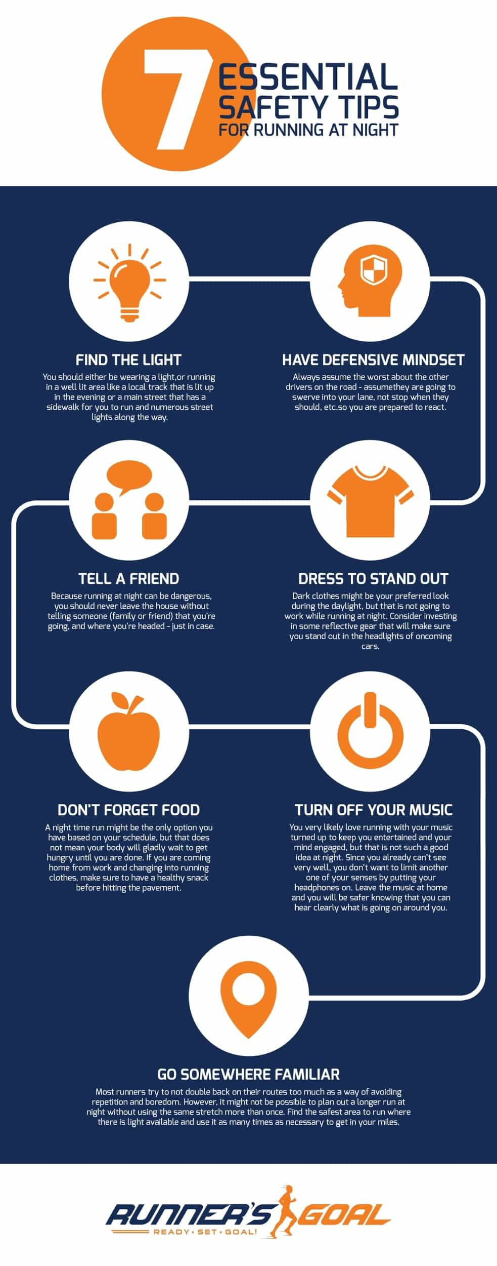 Running Safety At Night Infographic